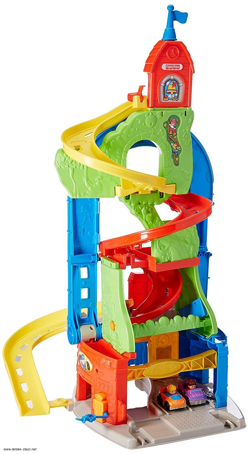 Fisher Price Autodráha Little People Sit 'n Stand Skyway Building Set