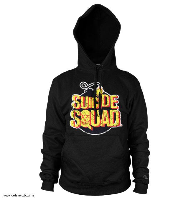 05336d379fa DC Comics UNISEX mikina s potiskem Suicide Squad Bomb Logo Hoodie velikost L