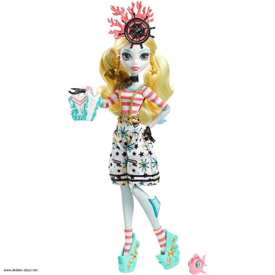 Monster High Lagoona Blue Shriek Wrecked panenka 27 cm