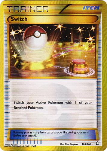 Xy05 Primal Clash - 163/160 Switch (Gold Shiny) - Trainer