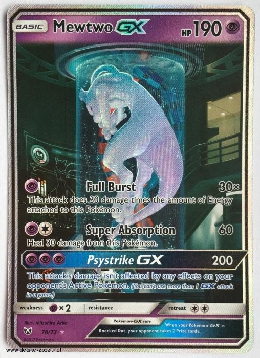 Sl Shining Legends - 78/73 Mewtwo GX (secret rare)
