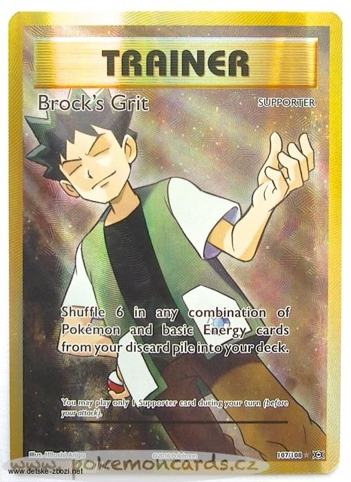 Xy12 Evolutions - 107/108 Brock's Grit - Trainer (full art)