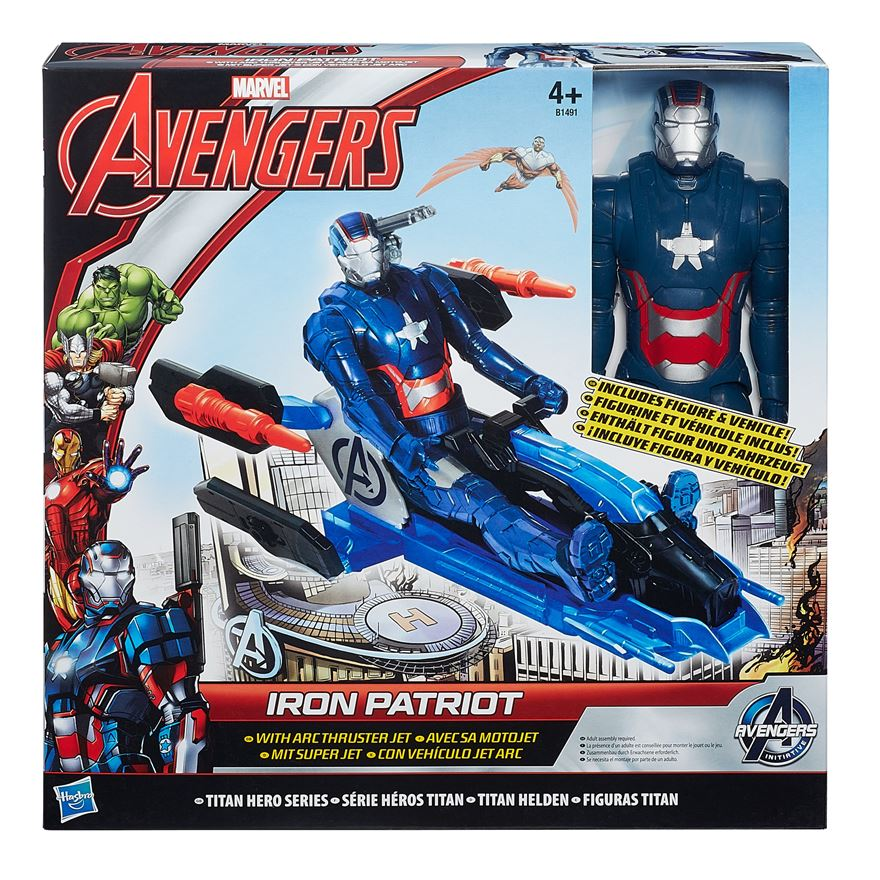 Marvel Avengers Iron Patriot figurka s Arc Thruster Jet  30 cm