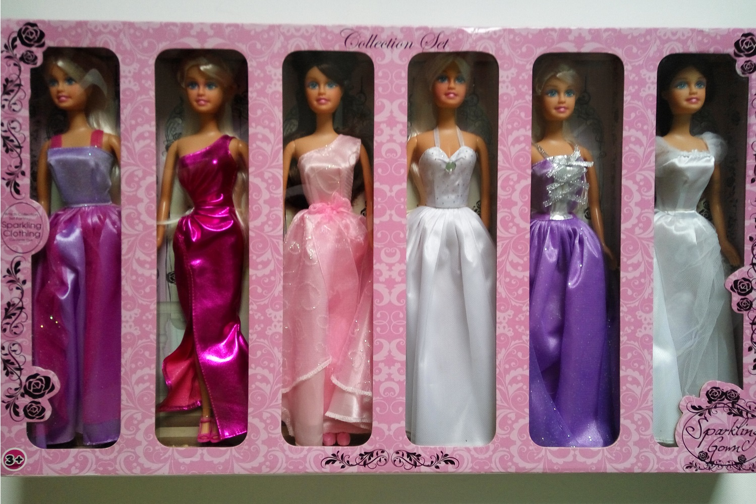 Sparkling Gown Clothing Collector Barbie panenky sada 6 kusů