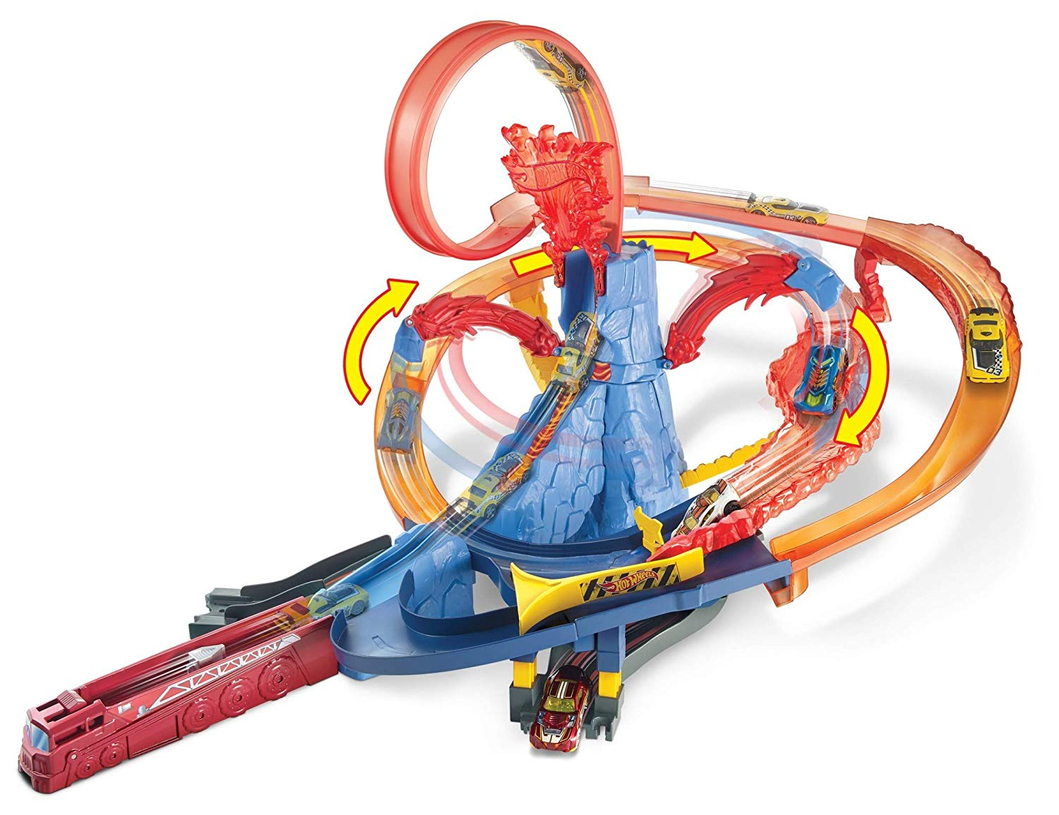 Mattel Hot Wheels Volcano super loop dráha
