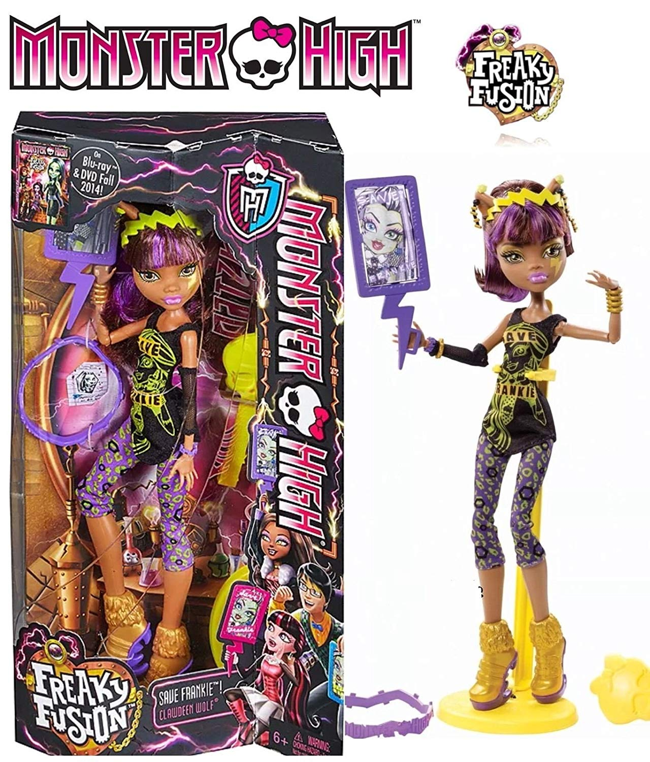 Matel Monster High panenka Clawdeen Wolf freaky fusion